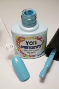 """Гель-лак YO!Nails """"SWEETY"""" № C33 (голубой, эмаль), 8 мл"""