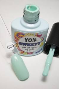 """Гель-лак YO!Nails """"SWEETY"""" № C29 (мятно-зеленый, эмаль), 8 мл"""