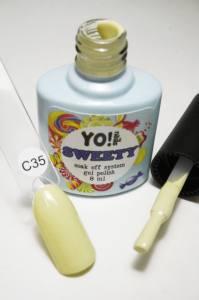 "Гель-лак YO!Nails ""SWEETY"" № C35 (светло-желтый, эмаль), 8 мл"