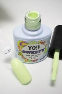 """Гель-лак YO!Nails """"SWEETY"""" № C25 (светло-салатовый, эмаль), 8 мл"""