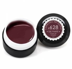 Гель-краска Canni 5г №628 коричнево-бордовая