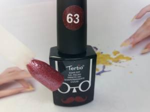 Гель-лак Tertio Baffo 10мл №63 бронзовый с серебристыми блестками