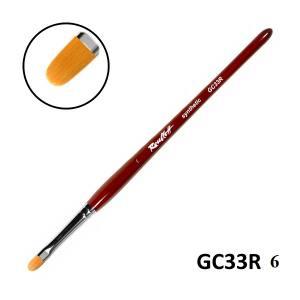Кисть для геля Roubloff GC33R №6 синтетика язычок