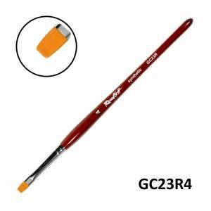 Кисть для геля Roubloff  GC23R №4 синтетика плоская