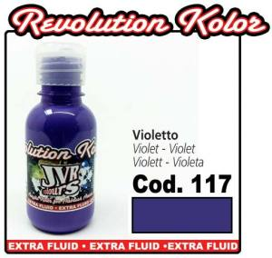 Краска для аэрографии JVR Revolution Kolor, opaque violet #117,10ml, Фиолетовая