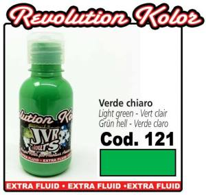Краска для аэрографии JVR Revolution Kolor, opaque light green #121, 10ml,Светло-зеленая