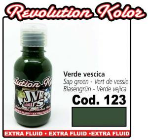 Краска для аэрографии JVR Revolution Kolor, opaque sap green #123,10ml, Зеленая