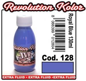 Краска для аэрографии JVR Revolution Kolor, opaque royal blue #128, 10ml,Васильковая