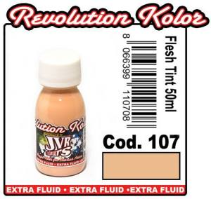 Краска для аэрографии JVR Revolution Kolor, opaque flesh tint #107,10ml Телесный