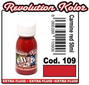 Краска для аэрографии JVR Revolution Kolor, opaque carmine red #109,10ml,Карминово-красная