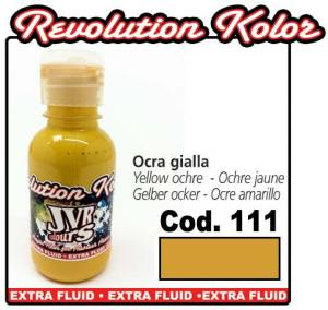 Краска для аэрографии JVR Revolution Kolor, opaque yellow ochre #111,10ml, Желтая охра