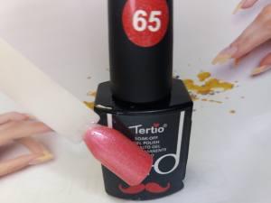 Гель-лак Tertio Baffo 10мл №65 персиковый шиммер