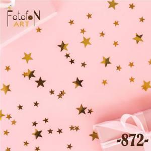 Фотофон виниловый 30см/30см Звезды на розовом фоне №872