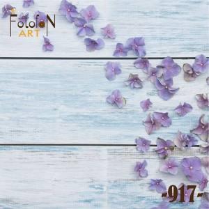 Фотофон виниловый 30см/30см Голубые цветы №917