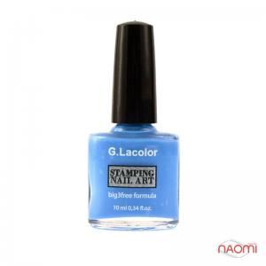 Лак-краска для стемпинга G.Lacolor №6 небесно-голубой