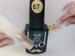 Гель-лак Tertio Baffo 10мл №67 серебряный шиммер