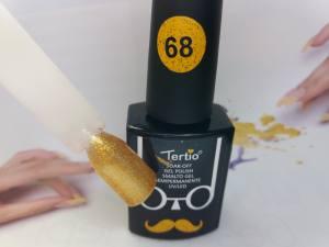 Гель-лак Tertio Baffo 10мл №68 золотой шиммер