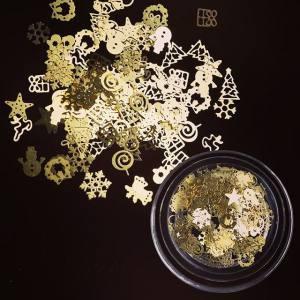 Металлические фигурки Новогодний Микс Золото в баночке