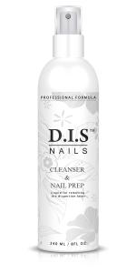 Жидкость DIS 2 в 1 Cleanser & Nail Prep 240мл