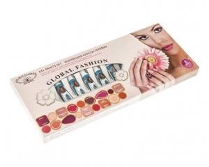 Набор гелевых красок для дизайна ногтей Global Fashion Nude Cashmere 10 цветов по 5 г