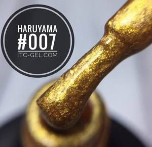 Гель-лак Haruyama Классика №007, золотые хлопья юки, 8 мл