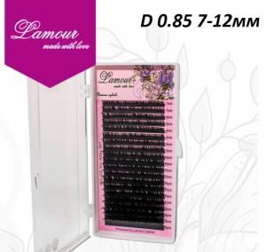 Реснички TM LAMOUR D 0.085 Растяжка 7-12 мм (20 линий)