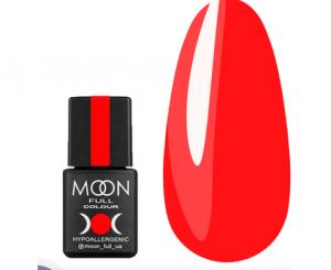 Гель-лак MOON FULL Neon color Gel polish №707 (морковно-коралловый, неон), 8 мл