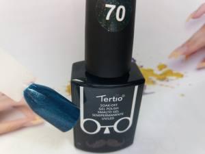Гель-лак Tertio Baffo 10мл №70 изумрудный шиммер
