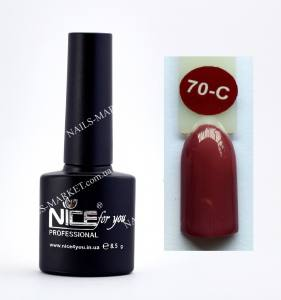 Гель-лак Nice for you Cool 8,5 ml С70 бордово-коричневый