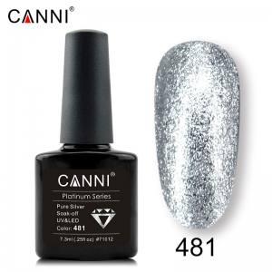 Гель-лак Canni Жидкая фольга №481, серебро