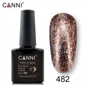 Гель-лак Canni Жидкая фольга №482, светлая бронза