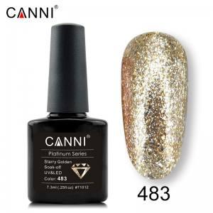 Гель-лак Canni Жидкая фольга №483, светлое золото