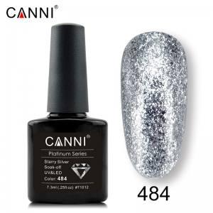 Гель-лак Canni Жидкая фольга №484, объемное серебро