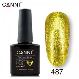 Гель-лак Canni Жидкая фольга №487, желтый