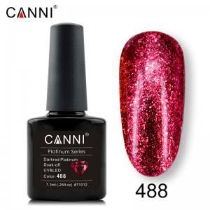 Гель-лак Canni Жидкая фольга №488, темно-красный