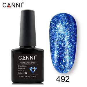 Гель-лак Canni Жидкая фольга №492, голубой