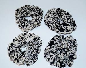 Резинка черно-белая