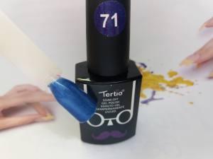 Гель-лак Tertio Baffo 10мл №71 синий шиммер