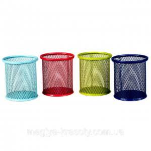 Стакан-подставка для кистей и пилок сетка круглая