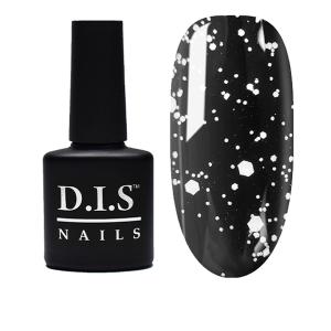 Топ без липкого слоя с белыми хлопьями D.I.S Nails Universal Top Flake № 01 7.5мл