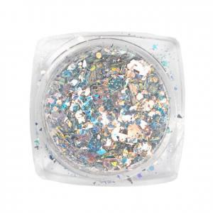 Komilfo блесточки MIX chameleon 001, микс размеров, (серебряный/оранжевый/голубой), 1,5 г