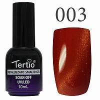Гель лак Tertio кошачий глаз №003 оранжево-красный  10 мл