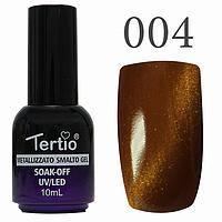 Гель лак Tertio кошачий глаз №004 коричневый 10 мл