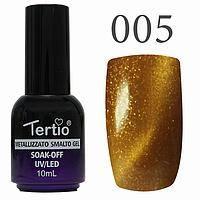 Гель лак Tertio кошачий глаз  №005 светло-коричневый с золотисным 10 мл