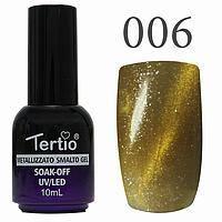 Гель лак Tertio кошачий глаз №006 золотистый 10 мл