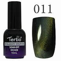 Гель лак Tertio кошачий глаз №011 тёмно-зелёный 10 мл