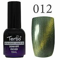 Гель лак Tertio кошачий глаз №012 светло-зелёный  10 мл