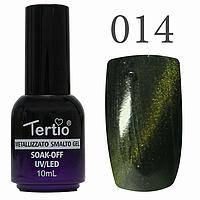 Гель лак Tertio кошачий глаз №014 сине-зелёный 10 мл