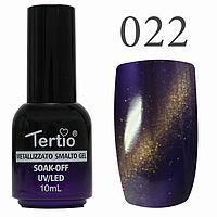Гель лак Tertio кошачий глаз №022 тёмно-фиолетовый 10 мл