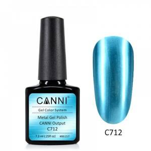 Гель-лак зеркальный CANNI №712 голубой